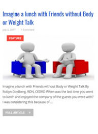 Link to EdCatalog.com Imagine a lunch with Friends without Body or Weight Talk (July 2017)
